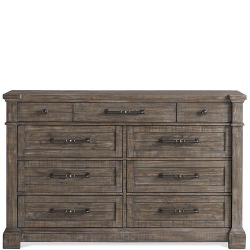Riverside - Bradford - Nine Drawer Dresser - Rustic Coffee Finish