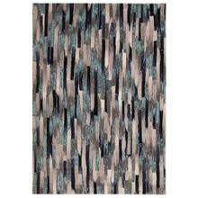 "Liora Manne Fresco Broken Stripe Indoor/Outdoor Rug Blue 4'10"" x 7'6"""