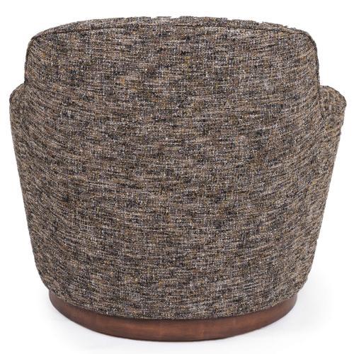 Product Image - Heathered Black Brown Soft Tweed Swivel Chair