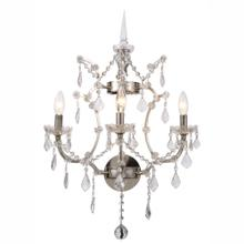 Elena 3 light Polished Nickel Wall Sconce clear Royal Cut crystal