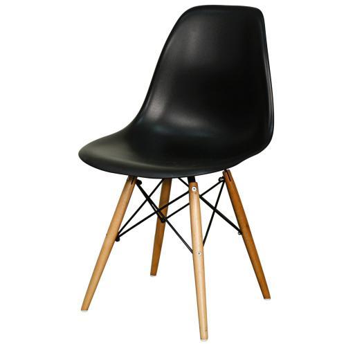 Allen Molded PP Chair Maple Dowel Legs, Black