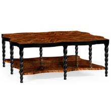Twist square coffee table with black twisted legs