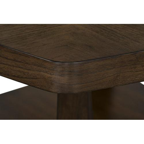 Standard Furniture - Mila Counter Height Table with Lazy Susan, Honey Brown