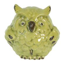 Zosia Lime Ceramic Owl,Medium