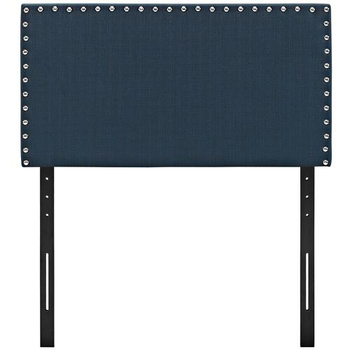 Phoebe Twin Upholstered Fabric Headboard in Azure
