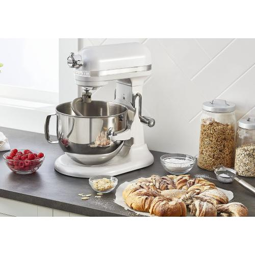 KitchenAid - Pro Line® Series 7 Quart Bowl-Lift Stand Mixer - Frosted Pearl White
