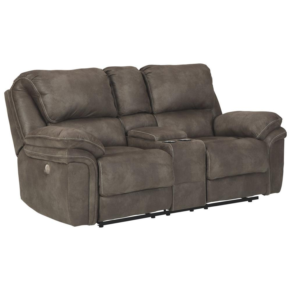 See Details - Trementon Power Reclining Loveseat With Console