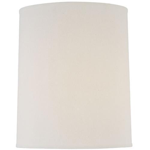 """Off-white Fine Linen Cylinder Shade - 14""""tx15""""bx15""""sl"""