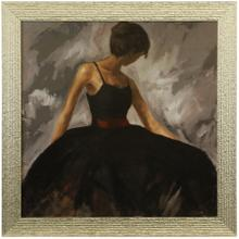See Details - EVENING OUT  36in X 36in  Made in the USA  Textured Framed Print