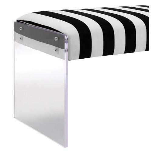 Tov Furniture - Envy Paris Velvet/Acrylic Bench