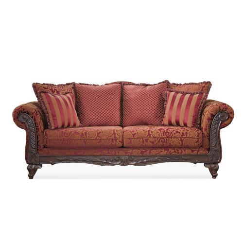 Hughes Furniture - Wood Trimmed Sofa