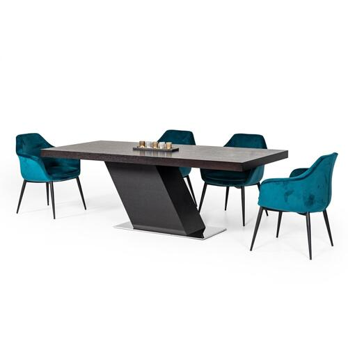 Modrest Flint Modern Wenge Dining Table