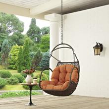 Arbor Outdoor Patio Swing Chair Without Stand in Orange