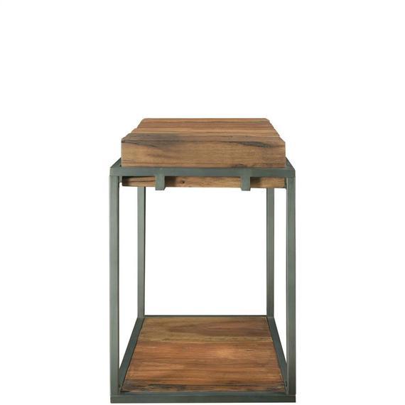 Riverside - Maverick - Chairside Table - Rustic Saal Finish