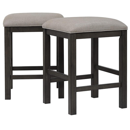Product Image - Backless Barstool Upholstered Barstool - Shades of Gray