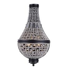 Stella 3 light Dark Bronze Wall Sconce Clear Royal Cut Crystal