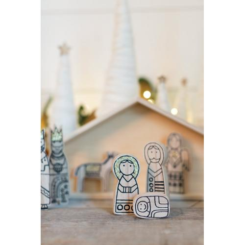 "13.75""x 2""x 7.75 Nativity Scene"