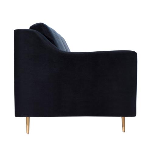 Tov Furniture - Milan Black Velvet Sofa