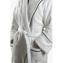 See Details - Gotham Unisex Robe Medium/Large in White/Black