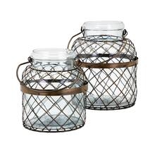Riley Wire Cage Jars - Set of 2