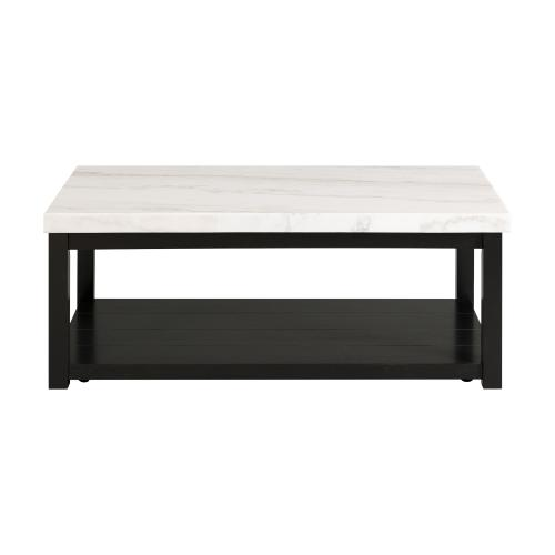 Marcello White Marble Rectangle Coffee Table