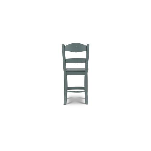Peg & Dowel Ladder Back Counter Stool w/ Wooden Seat