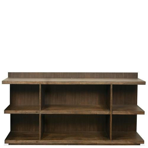 Perspectives - Peninsula Bookcase - Brushed Acacia Finish