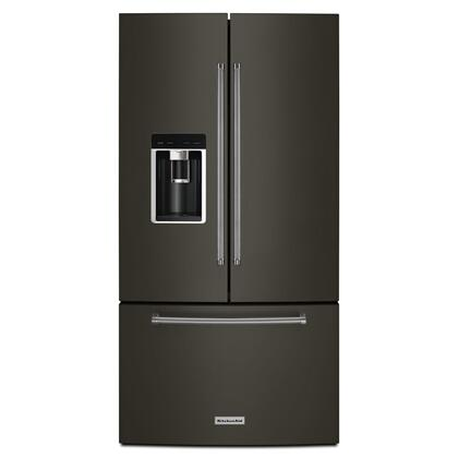 "23.8 cu. ft. 36"" Counter-Depth French Door Platinum Interior Refrigerator with PrintShield™ Finish - Black Stainless Steel with PrintShield™ Finish"
