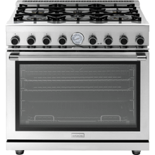 """See Details - Range NEXT 36"""" Panorama Stainless steel 6 gas, gas oven"""
