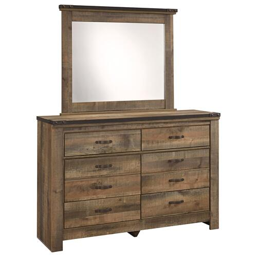 Twin Bookcase Headboard With Mirrored Dresser, Chest and 2 Nightstands