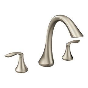 Eva brushed nickel two-handle roman tub faucet