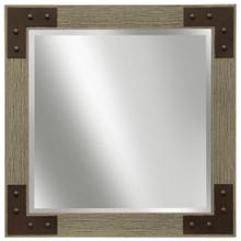 Made in USA  Natural Gray Wood Tone Frame with Faux Rusted L Brackets and RIVots  Hanging Hardware