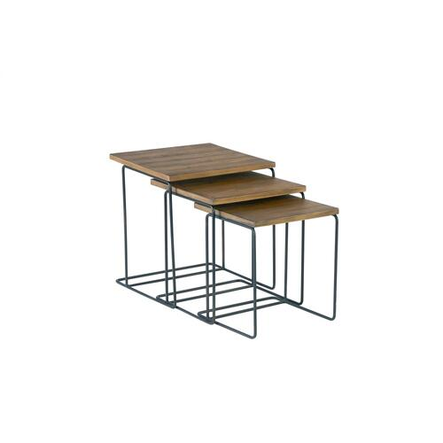 TABLES,NESTING WOOD TOP-SALVAG