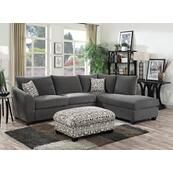 Emerald Home Urbana 2pc Sectional W/2 Accent Pillows Ink U3613m-11-12-13-k