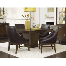 Skyline Pedestal Dining Room & Leather Club Chair