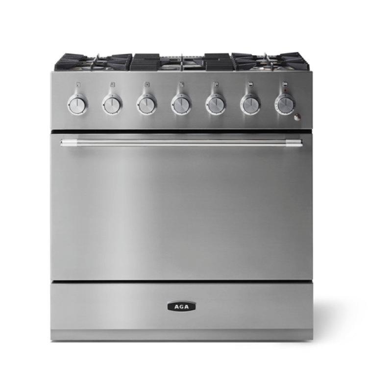 "Aga Mercury 36"" Dual Fuel Model, Stainless Steel"