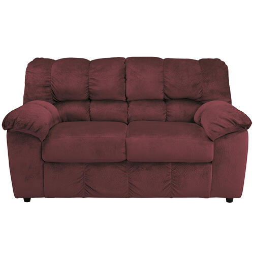 Signature Design by Ashley Julson Loveseat in Burgundy Fabric