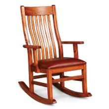 Urbandale II Arm Rocker with Cushion Seat, Leather Cushion Seat