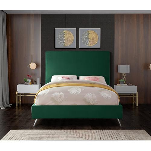 """Jasmine Velvet Bed - 59.5"""" W x 82"""" D x 52"""" H"""