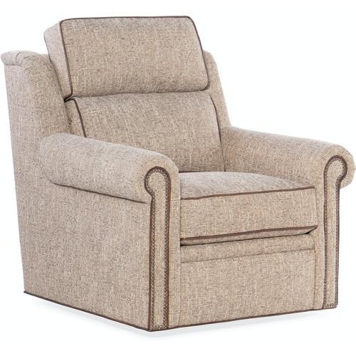 Bradington Young Reece Swivel Chair 8-Way Hand Tie - Two Pc Back 202-25SW-2