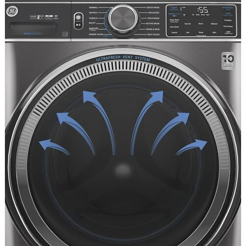 GE® 4.5 cu. ft. Capacity Smart Front Load ENERGY STAR® Washer with UltraFresh Vent System with OdorBlock and Sanitize w/Oxi