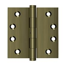 """View Product - 4"""" x 4"""" Square Hinges - Antique Brass"""