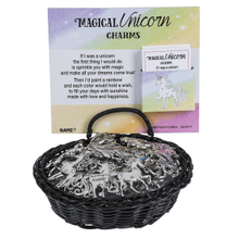 I Believe in Unicorns - Magical Unicorn Charms in a Basket (24 pc. ppk.)