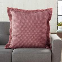 "Life Styles Bx056 Maroon 1'10"" X 1'10"" Throw Pillow"