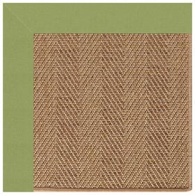 "Islamorada-Herringbone Canvas Citron - Rectangle - 24"" x 36"""