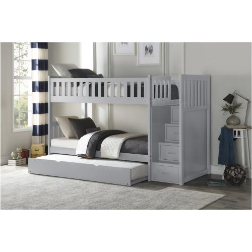 Twin/Twin Step Bunk Bed with Twin Trundle