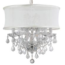 Brentwood 6 Light Crystal Chrome Drum Shade