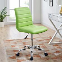 Prim Armless Mid Back Office Chair in Bright Green