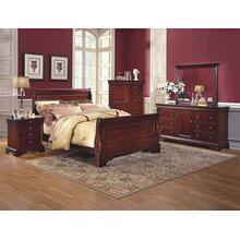 Versaille 6/0 WK Sleigh Bed - TV Console