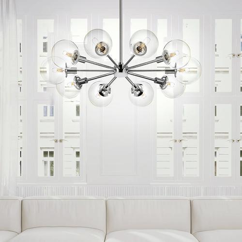 Sonneman - A Way of Light - Orb Pendant [Size=1-Light, Color/Finish=Polished Chrome w/Clear Glass, Shape=Standard]